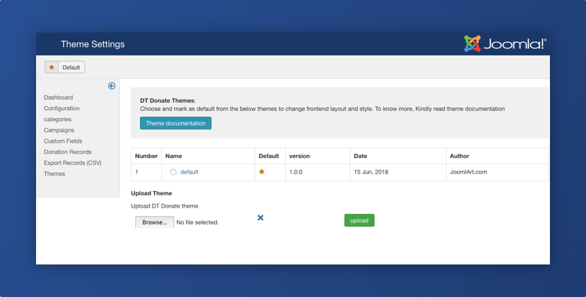 DT Donate - Joomla donation extension preview release with new