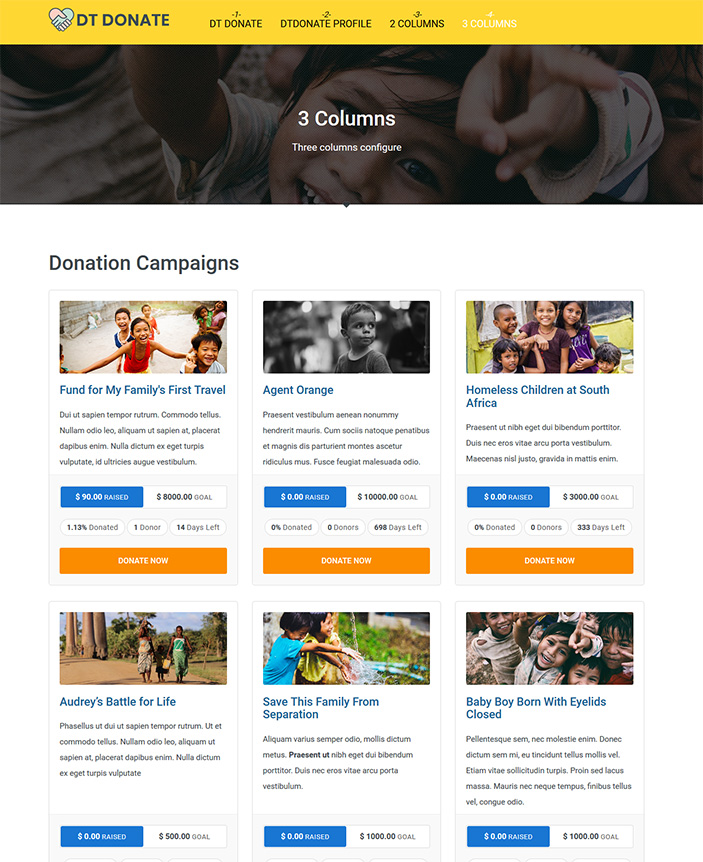 Joomla donation template