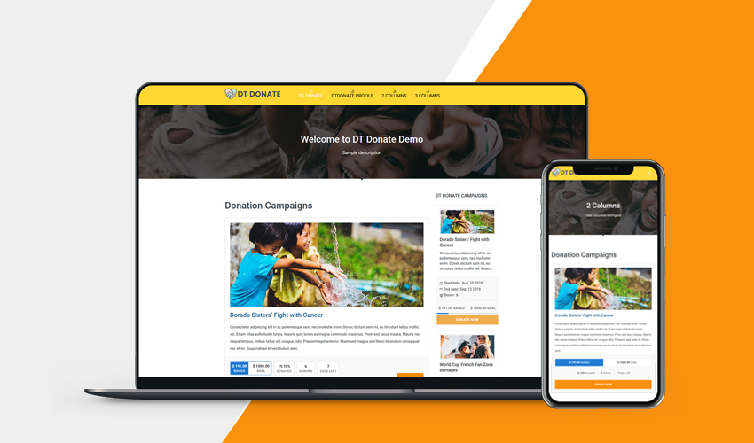 responsive donation extension for Joomla