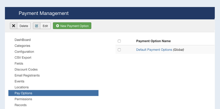 enable joomla event booking payment options