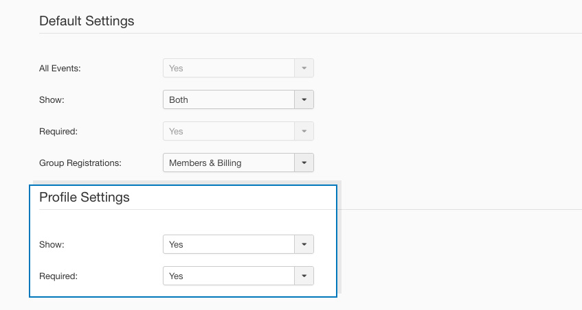 dt register user profile field setting