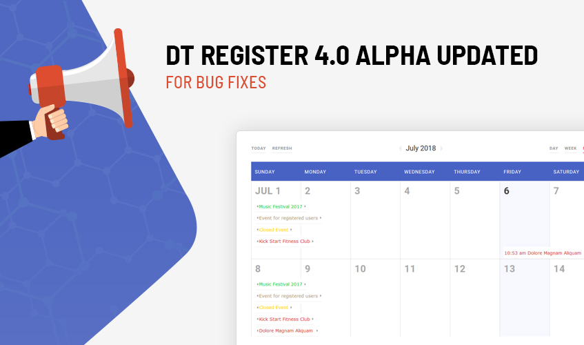 DT Register joomla event registration alpha released