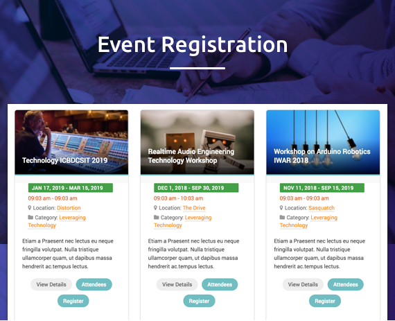 Joomla event registration extension DT Register