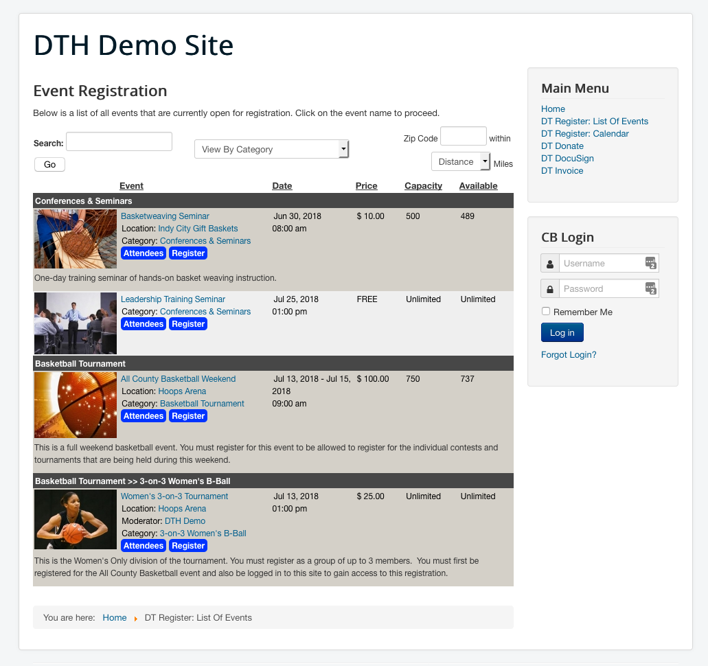 Dt Register older event page