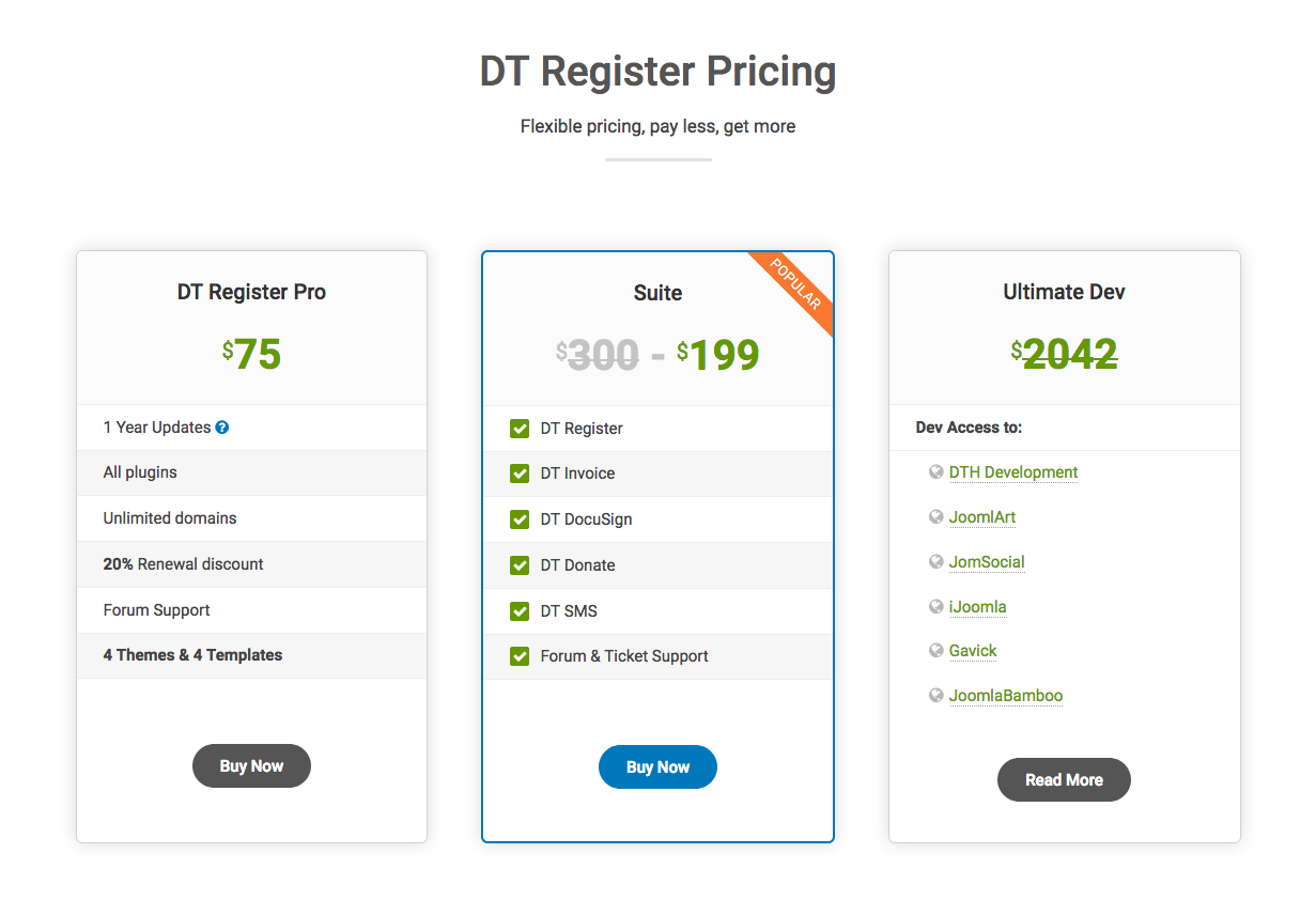 dt register pricing update