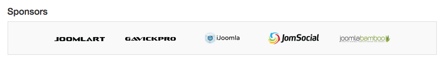 sponsor in event joomla extension