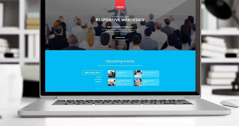 events joomla template update