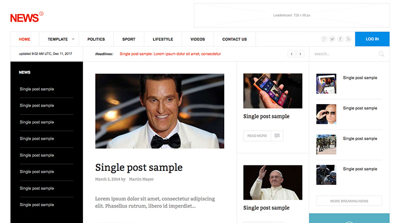 news joomla template update