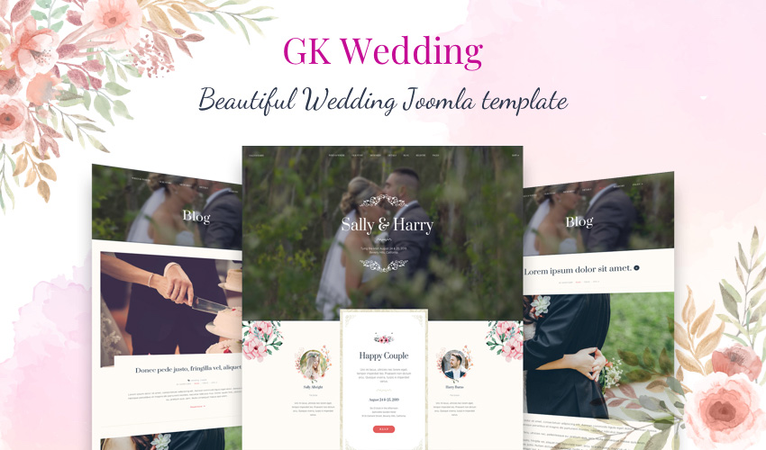 Joomla template for wedding websites - GK Wedding
