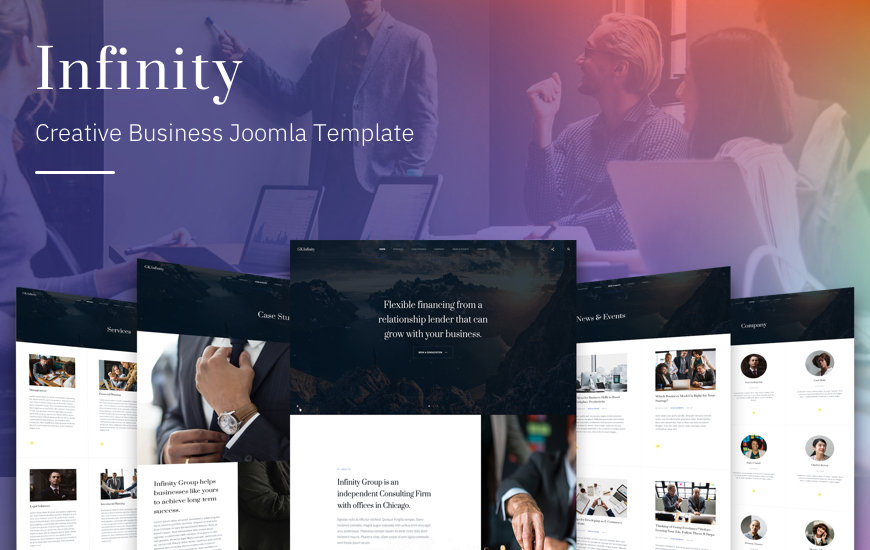 Joomla template for business, company and corporate - GK Infinity