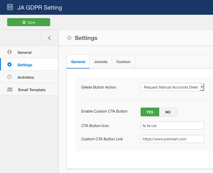 JA Joomla GDPR configuration improvement