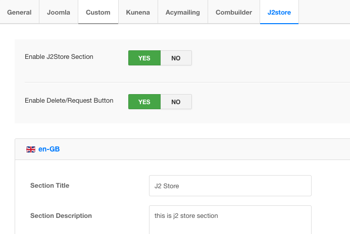 gdpr for j2store component