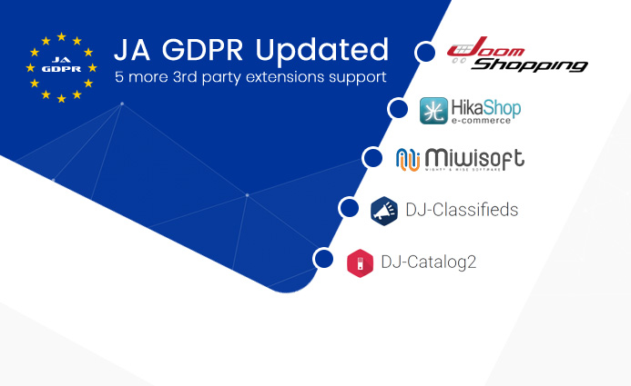 JA Joomla GDPR updated