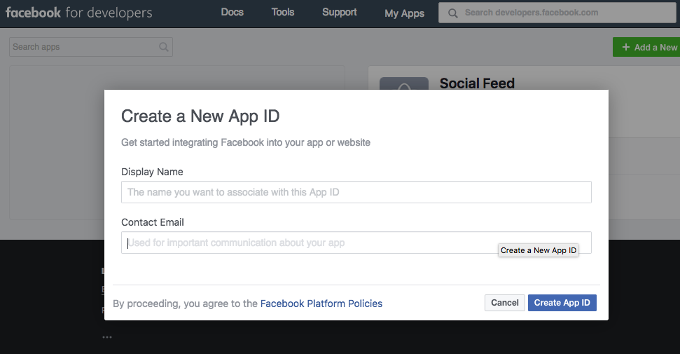 Add details in facebook app
