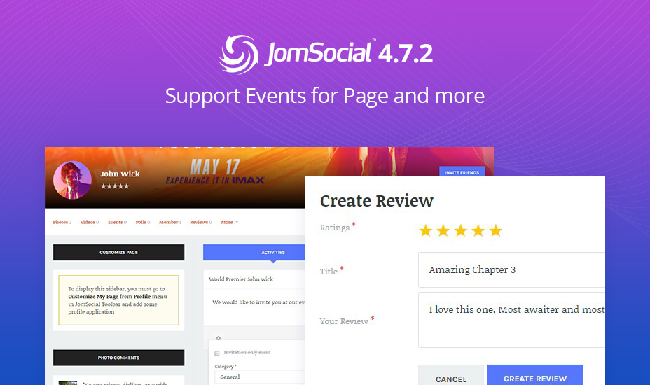 JomSocial 4.7.2 release improvements and bug fixes
