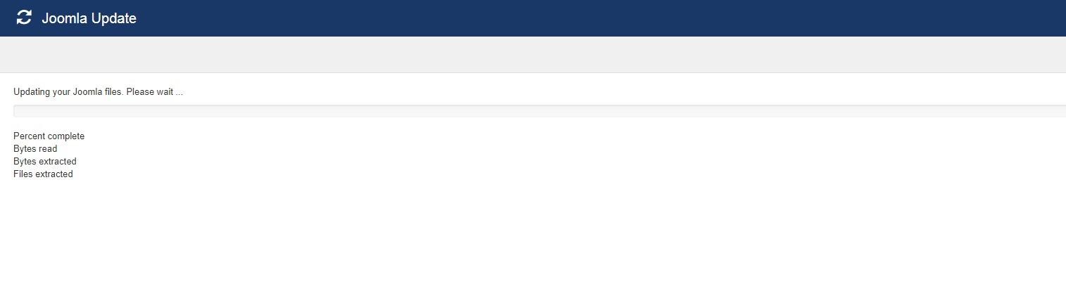 error in Joomla updates