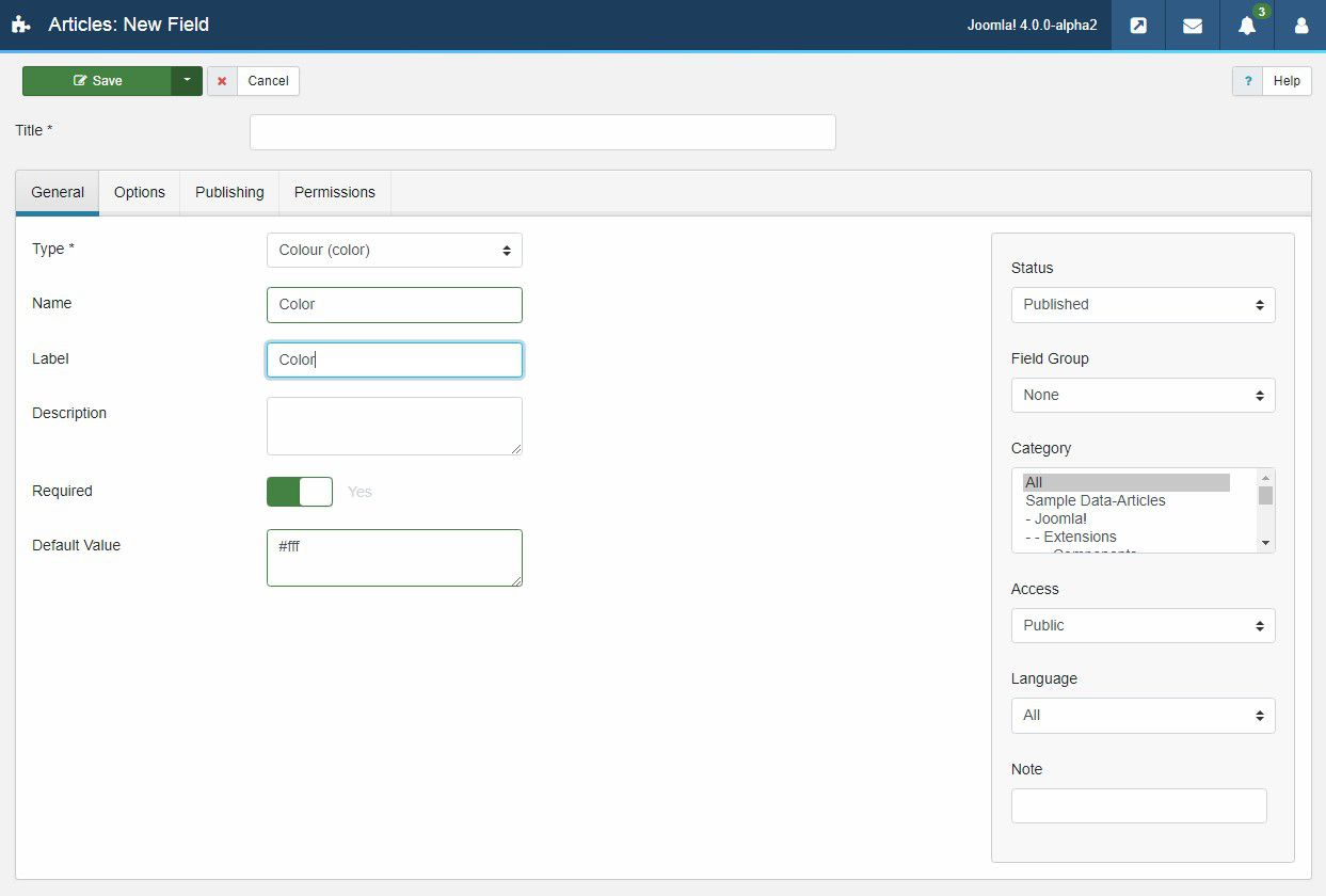 Joomla 4 custom fields