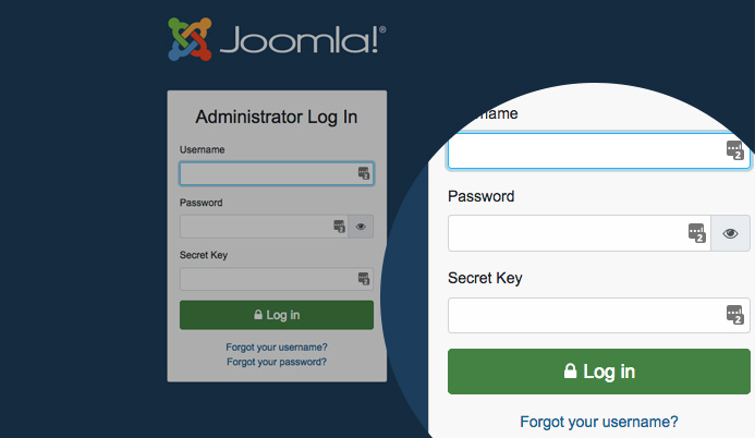 Joomla 4 two factor authentication login