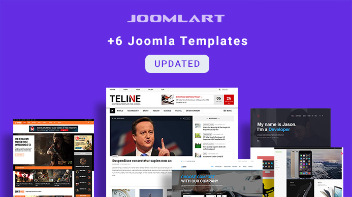 6 More Joomla templates updated for Joomla 3.9.1 and bug fixes