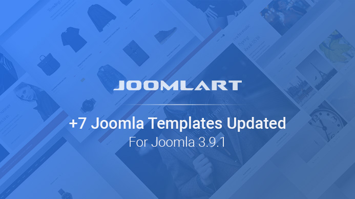 Weekend Updates: 7 more Joomla templates updated for Joomla 3.9.1