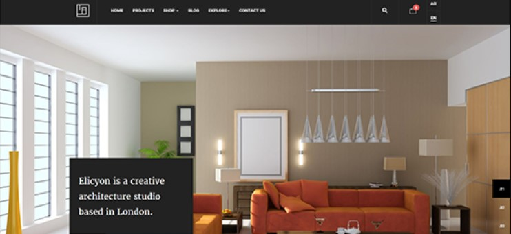eCommerce Joomla Template for Interior Design decor