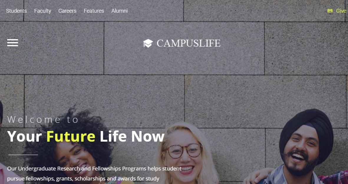campus life Joomla template upgraded for Joomla 3.9.2