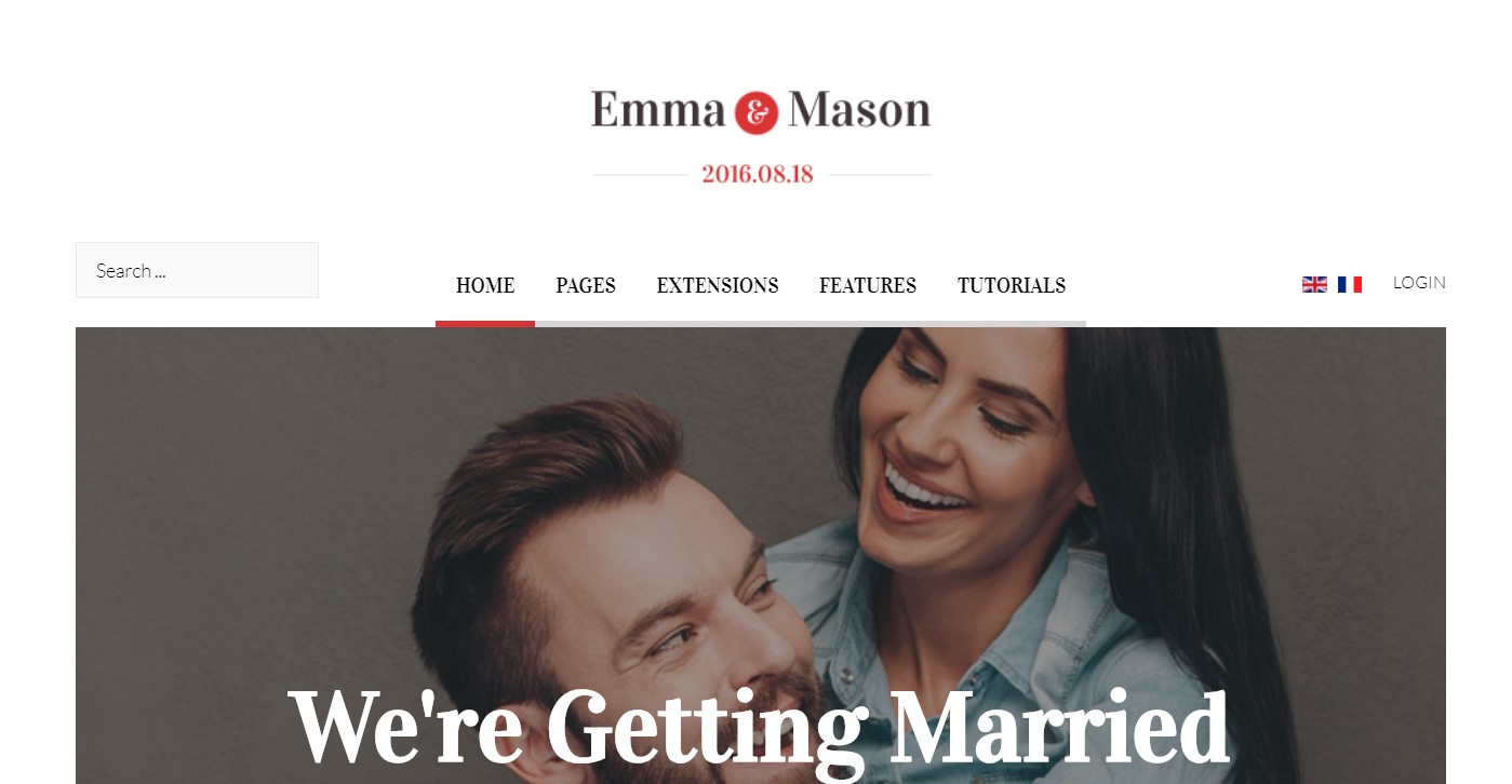event wedding Joomla template upgraded for Joomla 3.9.2