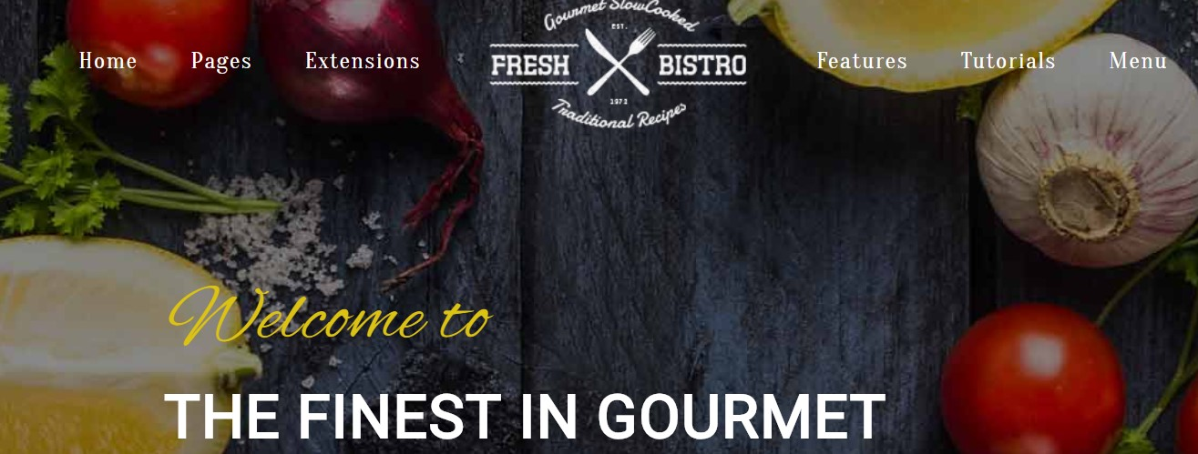 fresh bistro Joomla template upgraded for Joomla 3.9.2
