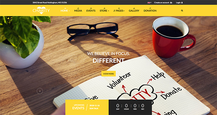 charity joomla template - ja charity