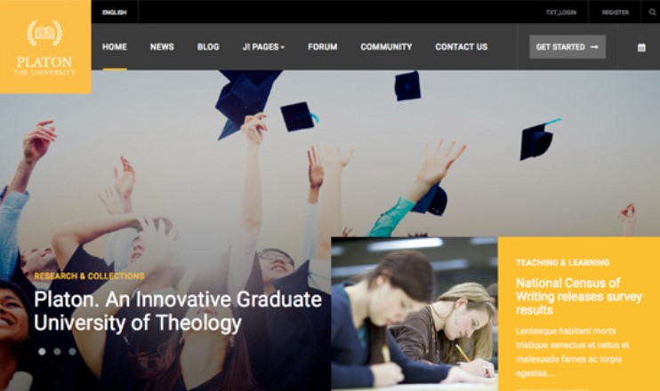 Responsive Joomla Template for Universities and Colleges