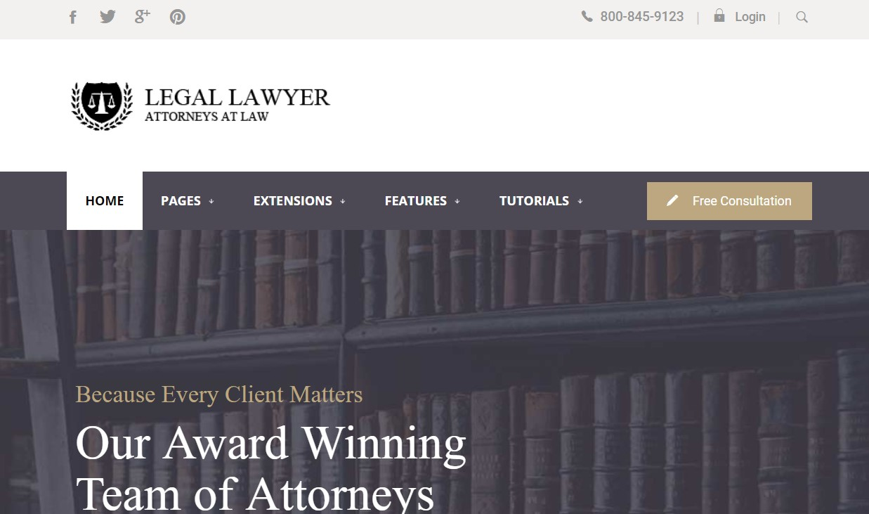 legal lawyerJoomla template upgraded for Joomla 3.9.2