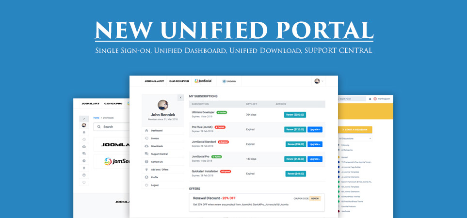 JomSocial new support portal
