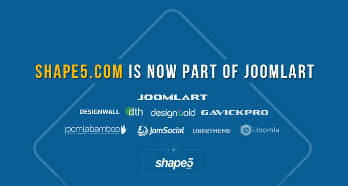 Announcement : Shape5.com is now part of JoomlArt