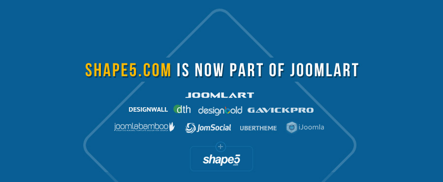 JoomlArt acquires Shape5