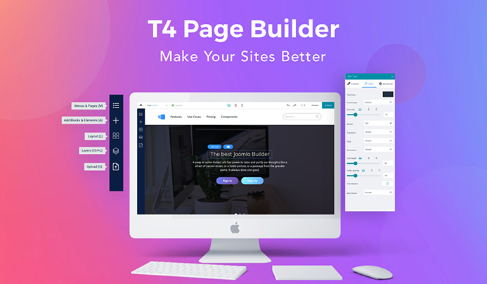 introducing t4 Joomla page builder
