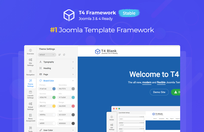 [HOT] T4 Joomla template framework STABLE released