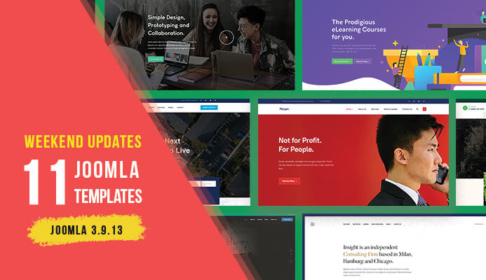 Weekend Updates: 11 Joomla templates updated for Joomla 3.9.13