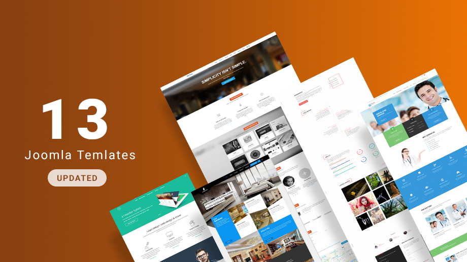13 more Joomla templates and 3 extensions updated for Joomla 3.9.1 compatibility and bug fixes