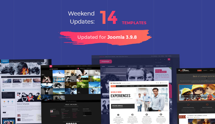 14 Joomla templates updated for Joomla 3.9.8