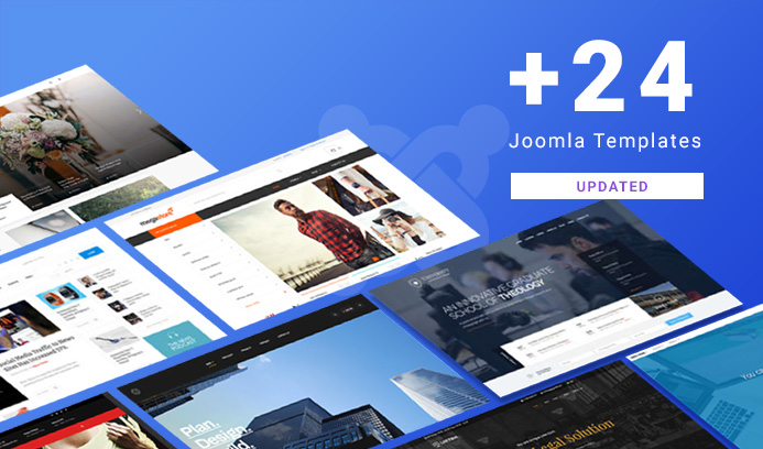 24 joomla templates updated for Joomla 3.9.2