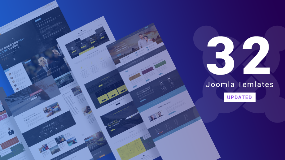 32 Joomla templates updated for Joomla 3.9.8