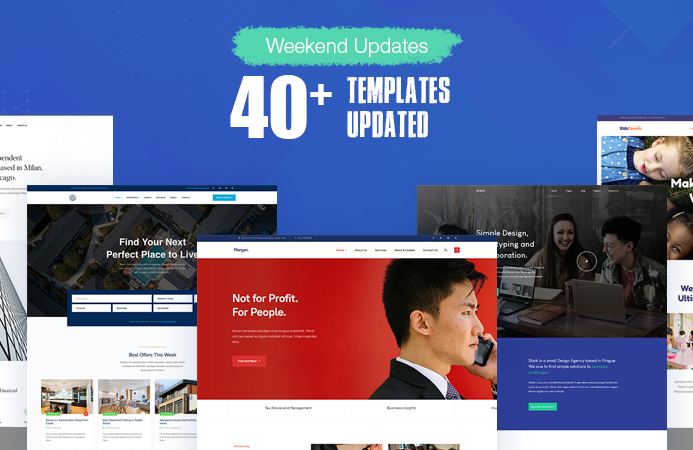 43 Joomla templates updated for Joomla 3.9.10