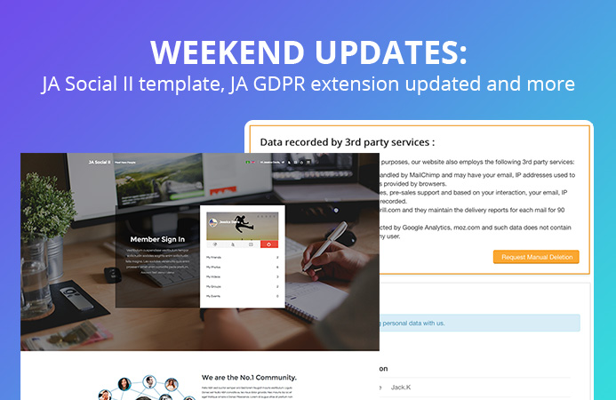 Weekend Updates: 1 template and 4 extensions updated