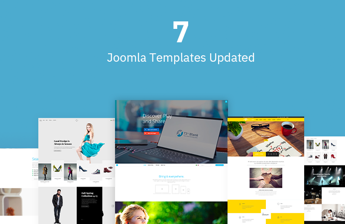 7 Joomla templates updated for Joomla 3.9.1