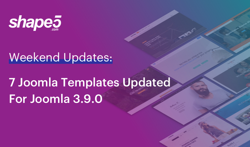 7 Joomla templates upgraded for Joomla 3.9