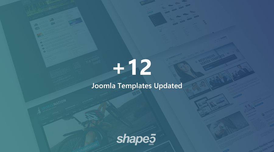 12 Joomla templates and extensions updated for Joomla 3.9.1 and bug fixes