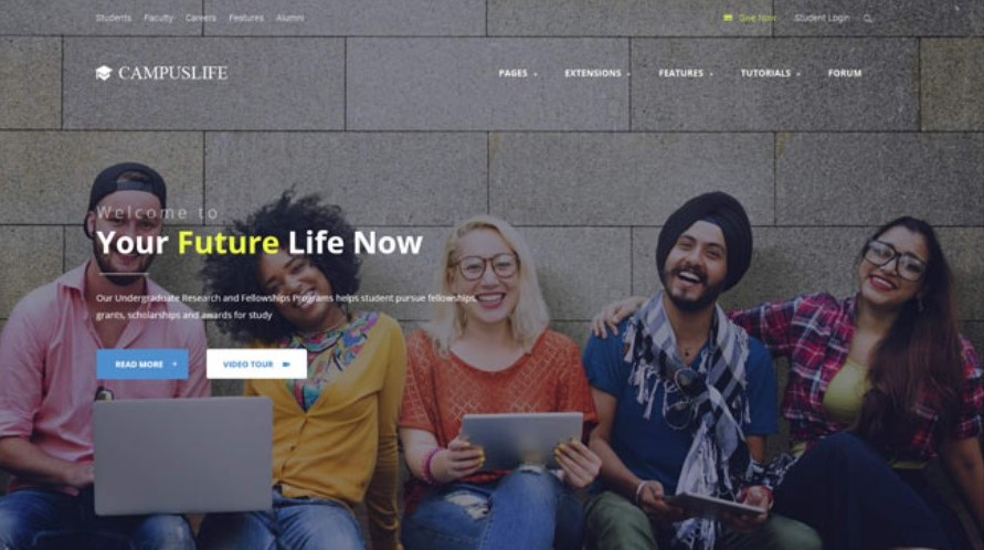 campus life Joomla template upgraded for Joomla 3.9