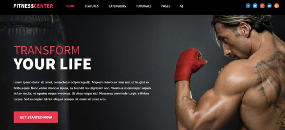 S5 Fitness Center - Version 1.0.2 Joomla template upgraded for Joomla 3.9