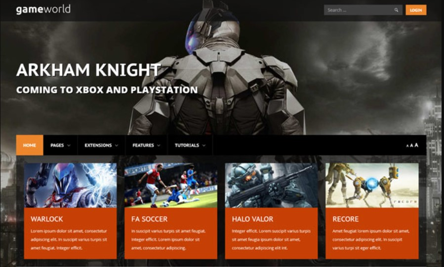 S5 Game World - Version 1.0.2 Joomla template upgraded for Joomla 3.9