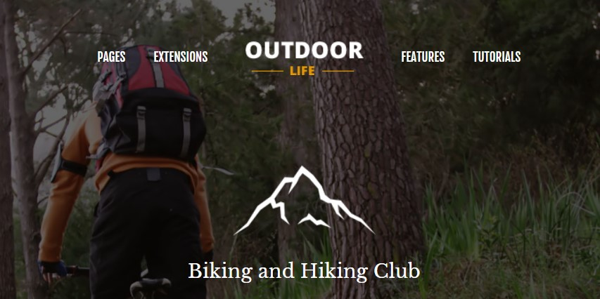 outdoor life Joomla template upgraded for Joomla 3.9